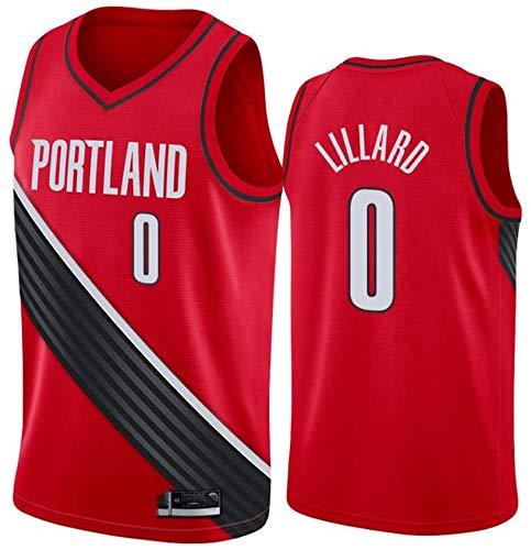 WSUN Portland Trail Blazers NBA 0# Damian Lillard Basket NBA Maglia da Uomo NBA Unisex Top Senza Maniche Sport all'Aria Aperta Tute da Competizione Canotta da Basket,S