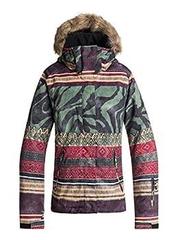 Roxy Snow Junior s Jet Ski SE Snow Jacket True Black_Wild Ethnic XS