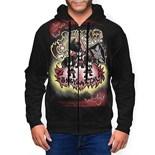iqingzhongbai Classic Babymetal Band Herren Hoodies mit Hut Full-Zip 3D Sweatershirt Travel Hoody Teen Coat