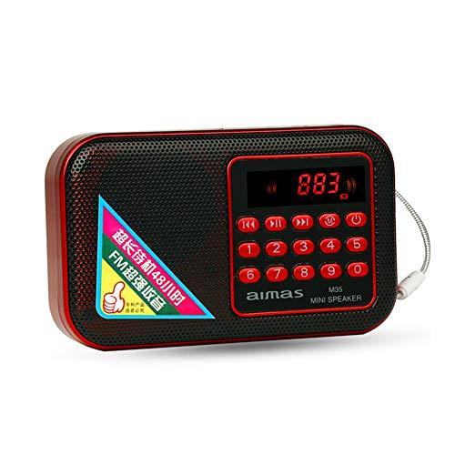 INEP Mini FM Radio, bewegliche Digital Radio-Lautsprecher mit 3,5-mm-Kopfhörerbuchse Scheibe des Unterstützungs U/TF-Kartenspiel, für Lieder zu hören/Freizeit/Morgengymnastik