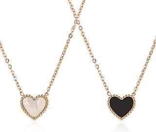 Necklaces قلادة المرأة أزياء قلادة الإبداعية كل مباراة مجوهرات الهدايا الفضية للفتيات Necklace for Women (Color : B)