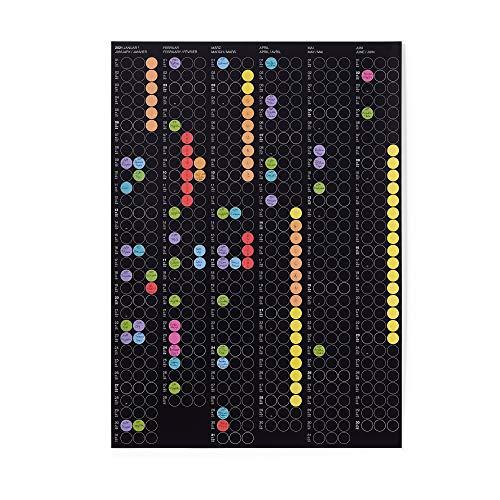 dot on Halbjahresplaner 2021 mit bunten Klebepunkten - Wandplaner Designkalender DIY Kalender Wandkalender Kalender selbst gestalten Kalender 21 Halbjahresplaner