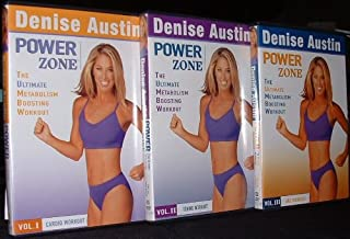 Denise Austin Power Zone Set Volumes 1-3 The Ultimate Metabolism Boosting Workout