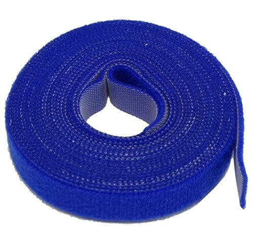 AERZETIX: 4 m 16 mm Klettband zur Kabelbündelung Kabelbinder Blau Klettverschluss C41854