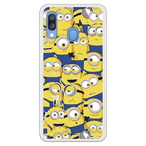 Funda para Samsung Galaxy A20E Oficial de Los Minions Los Minions Caras para Proteger tu móvil. Carcasa para Samsung de Silicona Flexible con Licencia Oficial de Universal.
