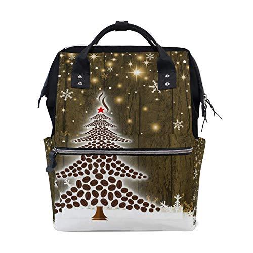 G.H.Y Baby Windel Wickeltasche Reiserucksack Muttertasche Weihnachtsbaum Kaffeebohnen für Mama Papa M von Top Carpenter
