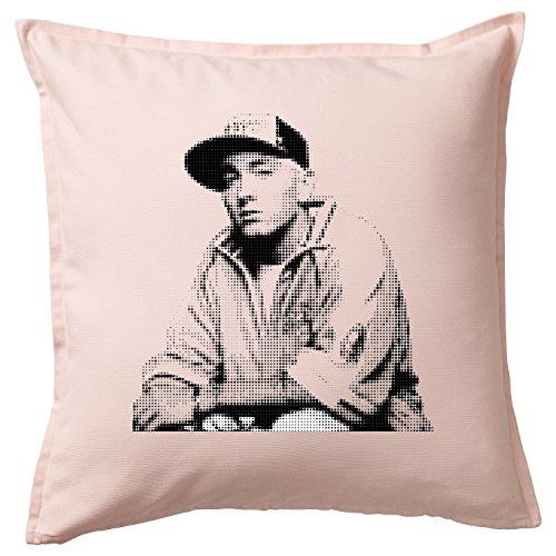 Eminem Funny Housse de coussin/Cushion & Pillow Cover Rosa