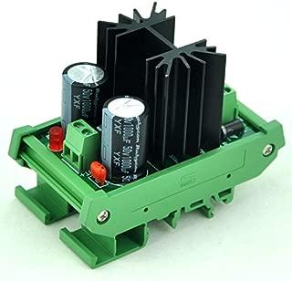 Electronics-salon DIN Rail Mount Step-down Positive 1.25~37V DC Adjustable Voltage Regulator Module.