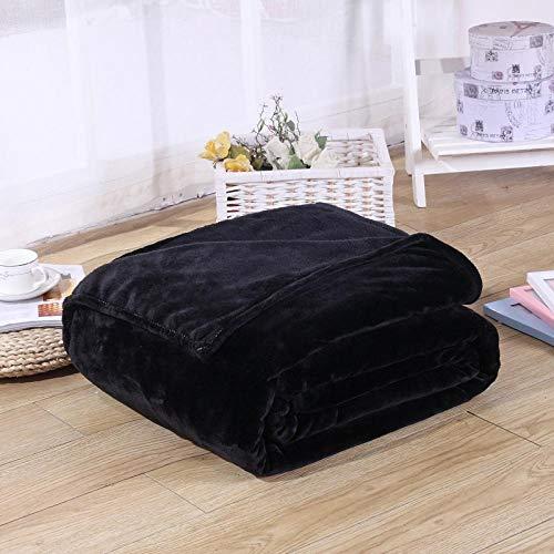 XOCKYE Gewichtsdecke Therapiedecke Weighted Blanket Schwere Decke für Erwachsene Gewichtete Decke Ideal für Besseren Schlaf Tagesdecke@150X200cm_Schwarz
