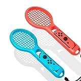 FEELING REALISTIC - Tennis Raquette est conçu pour s'adapter parfaitement à votre jeu de tennis Switch, il vous donnera une expérience réaliste lorsque vous jouez au jeu Mario Tennis Aces. EXPÉRIENCE SECURITE: Des sangles de poignet réglables au bas ...