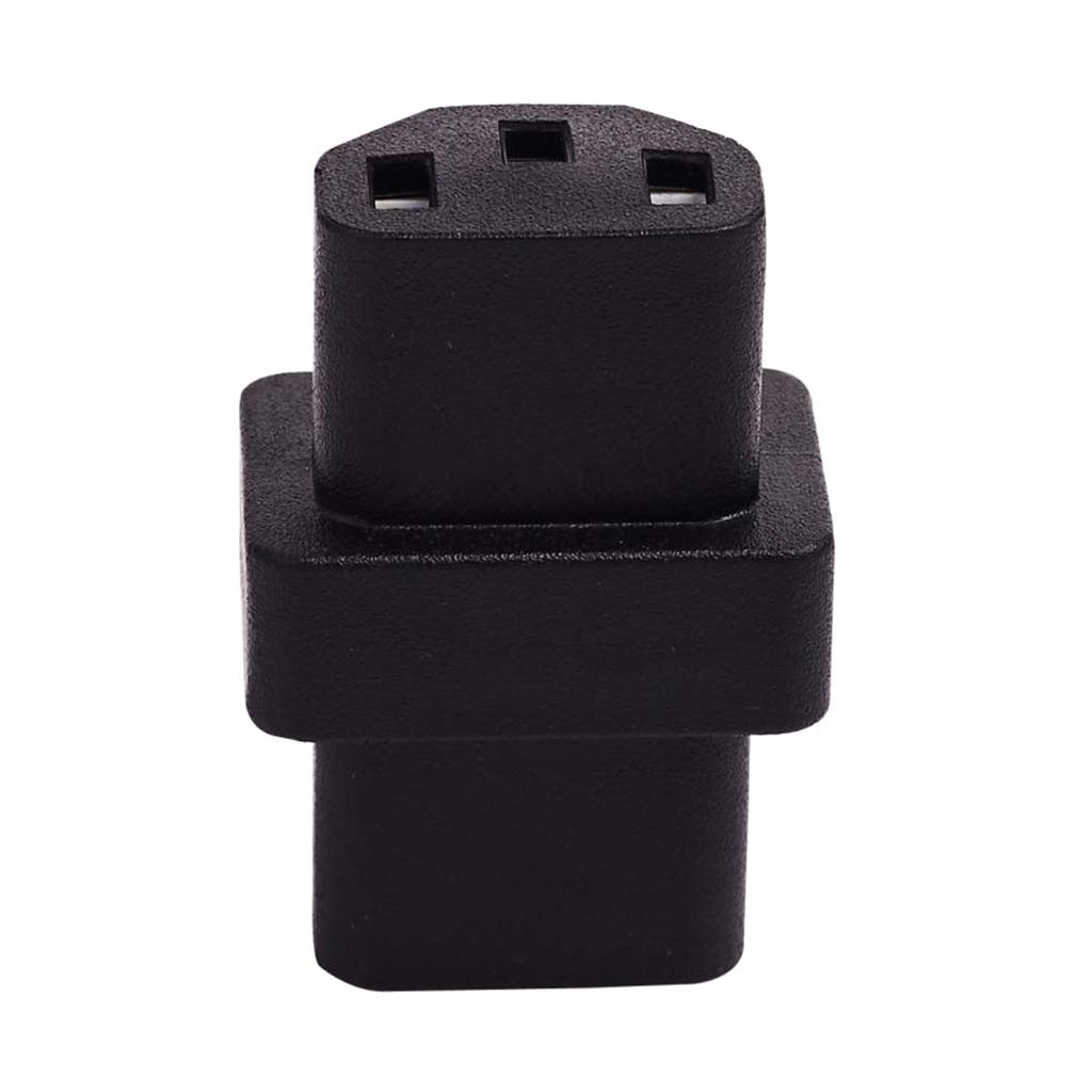 Homyl IEC320 C13 to IEC320 C13 Power Adapter Y-spliter Conversion Plug for PCs Monitor Scanner and Printer