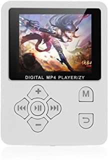 Gecheer MP3 MP4 Digital Player 1.8 Inches Color Screen Music Player Lossless Audio Video Player Support E-Book FM Radio Vo...