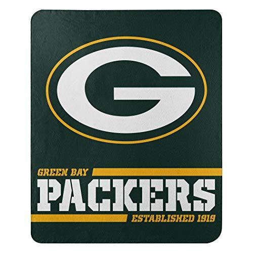 Northwest NFL Green Bay Packers 50x60 Fleece Split Wide DesignBlanket, Team Colors, One Size (1NFL031040017RET)