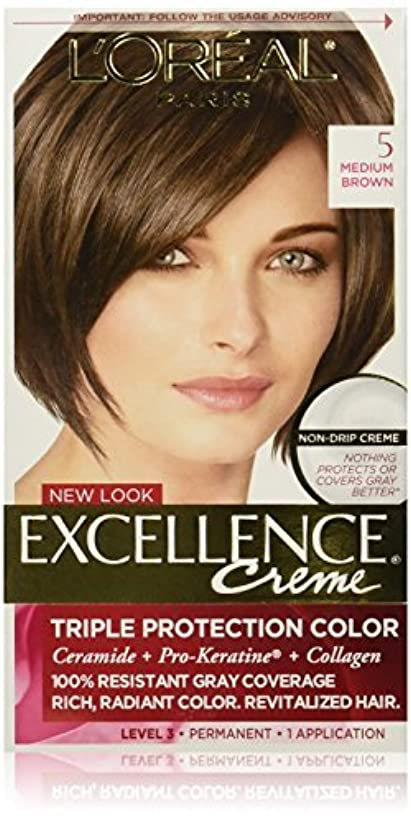 半球背景保守的Excellence Medium Brown by L'Oreal Paris Hair Color [並行輸入品]