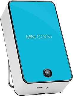 MerryWould Mini Fan de enfriamiento sin Hojas LED Lámpara de Mesa Plegable Creativa,Mini Ventilador portátil de Aire Acondicionado,Air Cooling,Enfriador de Ventilador USB sin Hojas de Mano (Azul)