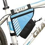 GJG Sac De Cadre De Vélo, Sac Triangle Vélo Imperméable, Sacoche De Selle De Cadre De Tube, avec Bande Réfléchissante - Pack Avant De Vélo De Vélo - Poche pour Bouteille d'eau,2