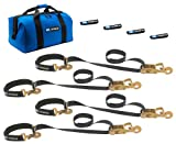 Mac's Tie-Downs 511118 Black Super Pack with 8' x 2' Direct Hook Combination Axle Straps