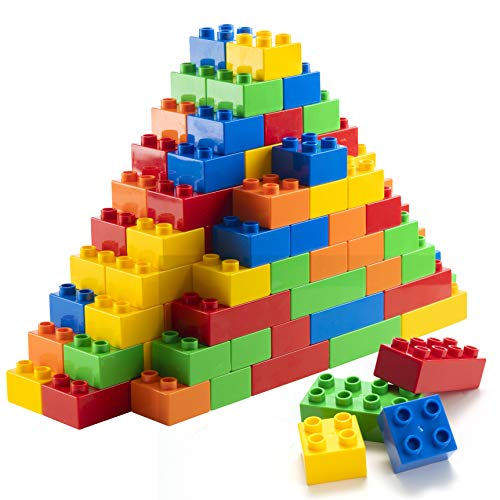 150 Piece Classic Big Building Blocks Compatible with All Major Brands STEM Toy Large Building Bricks Set for All Ages