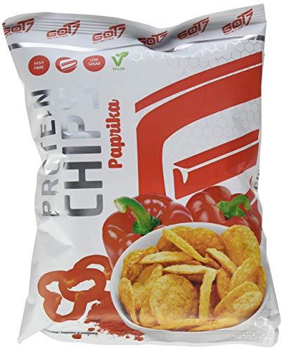 Got7 Nutrition High Protein Chips - Snack 40% De Proteínas Para El Fitness - Ideal Para La Dieta Y Para El Tiempo Libre - 6x 50g (paprika-), Blanco, Pimentón, 300 Gramo