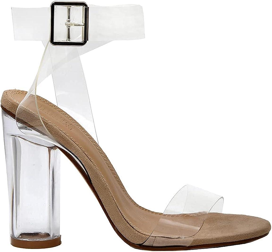 Dunes Women's Quantity limited Nellie Lucite Heel Foam +Memory Insoles Sandal Max 89% OFF