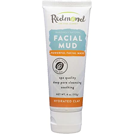Redmond Facial Mud, Hydrated Clay, 4 Ounce Tube (1 Pack)