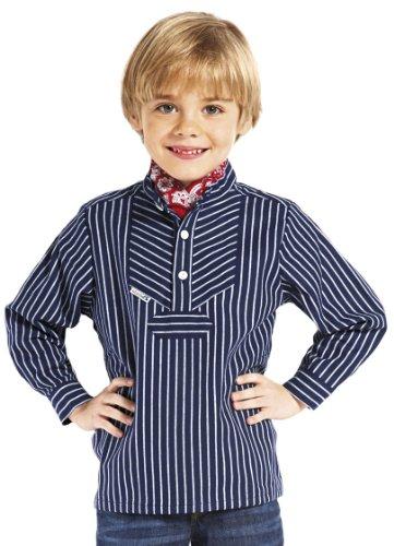 modAS Fischerhemd Original breit gestreift Kinder, Kinder, 98