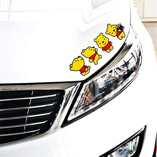Winnie The Pooh etiqueta de la pared de dibujos animados Winnie Pooh y Bee calcomanía decoración para motocicleta Honda Toyota Hyundai nevera armario coche pegatinas