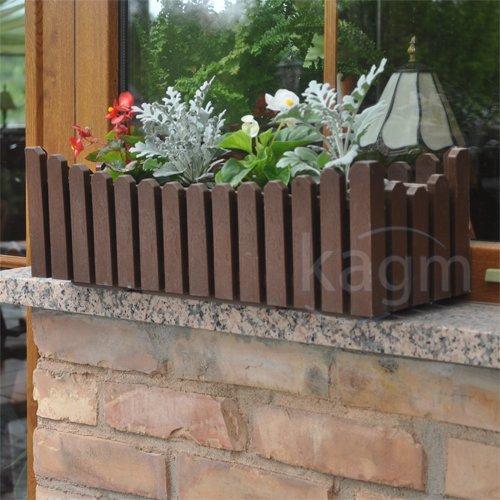 Blumenkasten Balkonkasten Pflanzkasten Landhausstil braun