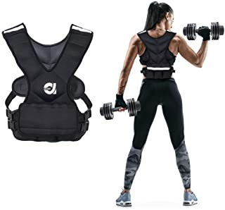 ATIVAFIT Sport Weighted Vest 8 LBS/16 LBS for Men & Women, Workout Equipment Body Weight Vest with Pocket, Reflective Stripe and Adjustable Strap, Weighted Body Vest for Training, Jogging, Cardio