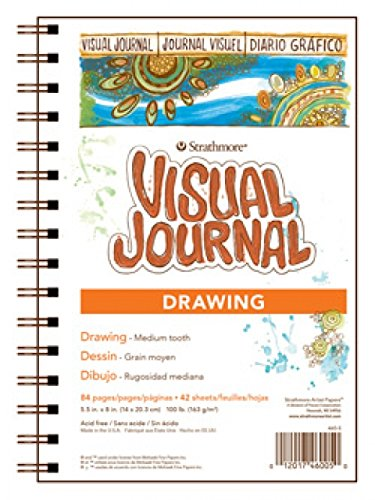 Strathmore 400 Series Visual Drawing Journal, 5.5'x8' Medium Surface, Wire Bound, 42 Sheets