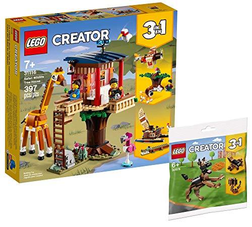Collectix Lego Set – Lego Creator 31116 – Casa de árbol Safari + Lego Creator Pastor Alemán 30578