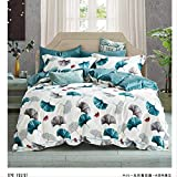 ddgdnn biancheria da letto per la casa in cotone a quattro pezzi lenzuola pastorali da 1,5 cm letto versailles giardino