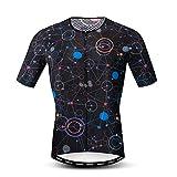 JPOJPO - Maillot de Ciclismo para hombre, S-3XL - licra+poliéster, con cremallera, reflectante, 4 bolsillos - Multi - etiqueta XXL