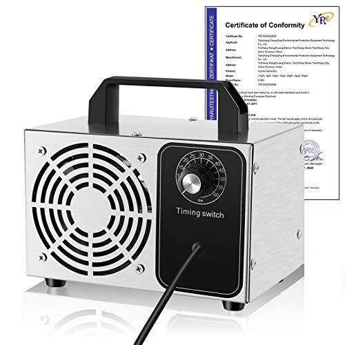WANZlMM Portatil Generador Ozono Eco-de, 28g/h Domestico Generador de Ozono con Temporizador de 60 min para, Elimina Eficazmente el Olor de la Hogar y Coche 【Embalaje Antiguo】