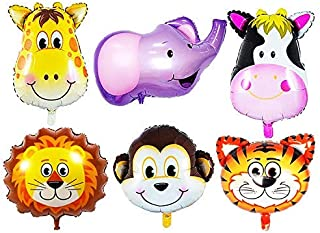 Party Propz Jungle Safari Animals Balloons 6-Pieces Set for Birthday Party Decorations