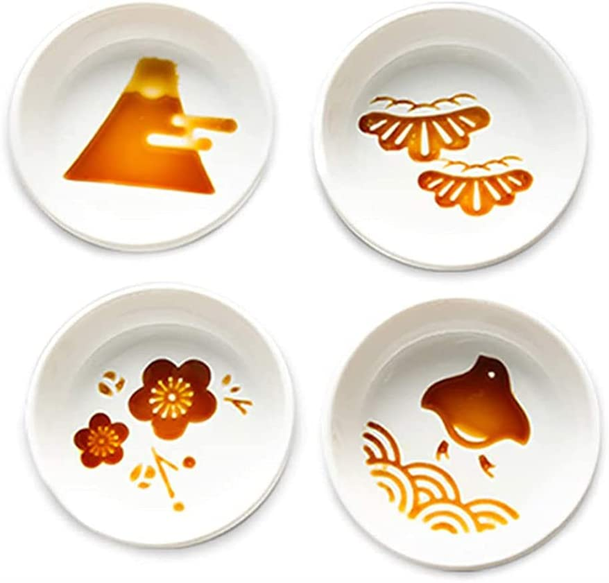 123Arts 4pcs Ceramic Relief Sales for sale Mount Seasoning Fuji Japanese Dishes security