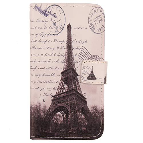 Lankashi PU Flip Leder Tasche Hülle Hülle Cover Schutz Handy Etui Skin Für Medion Life E5006 MD 60227 5
