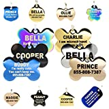 Engraved Dog Tags Personalized - Stainless Steel Engraved Dog Cat ID Tags Front & Back up to 8 Lines...