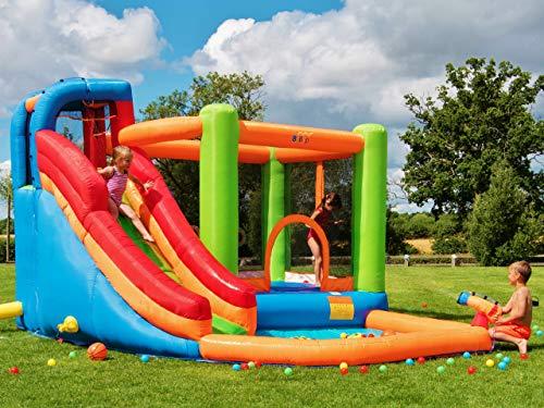 BeBop Grande Aire de Jeux Gonflable et Toboggan Aquatique pour Enfants Canyon de