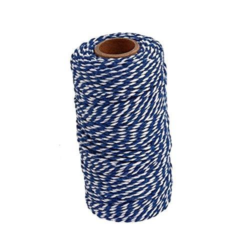 Voarge Cordel de jardín de 100 m de hilo de algodón para envolver regalos, hilo de...