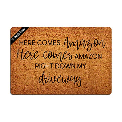 Ruiyida Here Comes Amazon Home Living Decor Housewares Rugs and Mats State Indoor Gift Ideas 23.6 by 15.7 Inch Machine Washable Fabric Top
