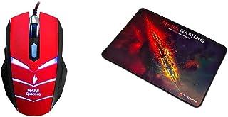 MARSGAMING MMVU1 Ratón Gaming para PC (5000 dpi, Sensor óptico Avago, iluminación LED en 7 Colores + MMP1 Alfombrilla Gami...