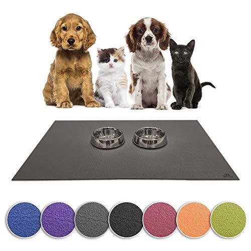 Sanosoft SanoZoo Napfunterlage - Öko-TEX - Made in Germany - Futtermatte für Hunde & Katzen (60 x 90 cm, Grün)