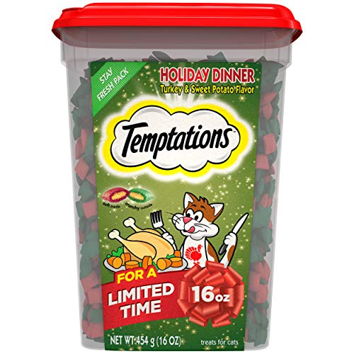 Temptations Holiday Dinner Turkey & Sweet Potato Flavor holiday Cat Treats