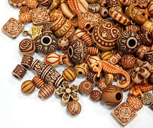 50g Perlenmischung Tibet Antik Kunststoffperlen Plastik Perlen Mix Farbe Acrylicperlen Set Perle zum Auffädeln für Armbänder Halsketten Perlenset Bastelset D123