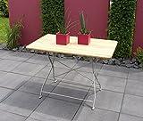 Freital Handels GmbH Gartentisch Klapptisch Tisch Esstisch Gartenmöbel Biergarten Robinie mit Stahl