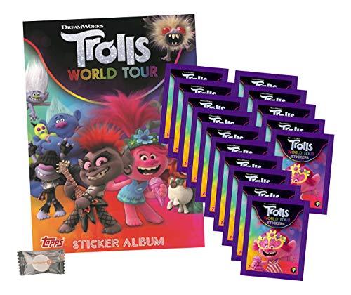 Trolls World Tour (2020 - Sticker & Stickercards - 1 Album + 15 Tüten + stickermarkt24de Gum