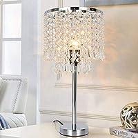 YMLSD テーブルランプ、寝室用のモダンなledクリスタルテーブルランプベッドサイドライトラグジュアリーランプリビングルームモダンなled装飾テーブルランプ