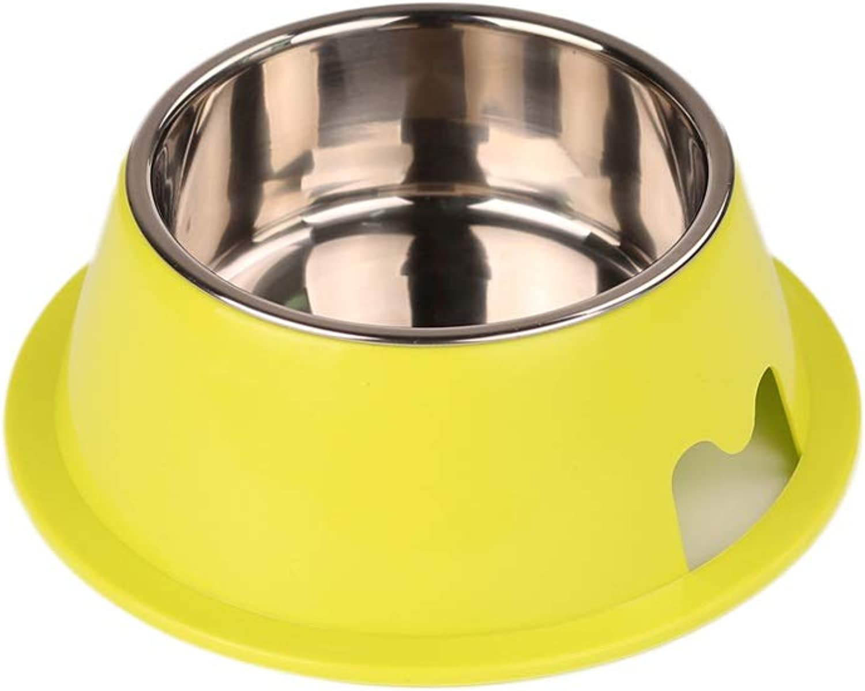 Dog Bowl Rice Bowl Small Dog Bowl Dog Pot Cat Food Bowl Cat Bowl Dog Food Bowl Pet Bowl Stainless Steel (color   Green)