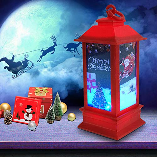 Christmas Retro Small Lantern - Small Oil lamp Hanging Lights Outdoor Lantern Waterproof Flickering Candle Mission Light,for Table Garden Patio Pathway Deck Yard Tea Light Candles (A)